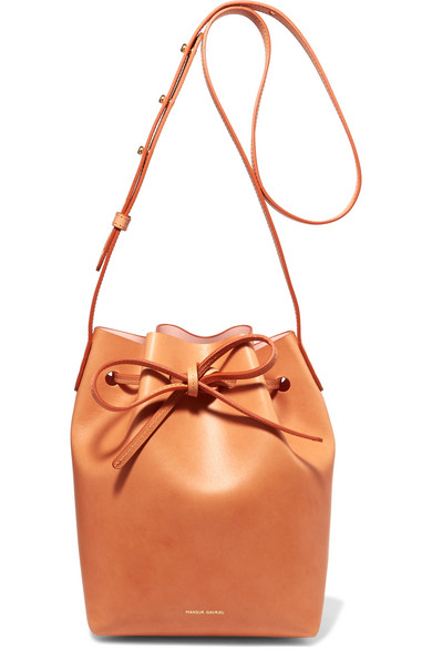 Mansur Gavriel - Mini Leather Bucket Bag - Camel