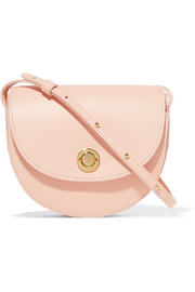 Saddle mini leather shoulder bag