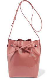 Mansur Gavriel Mini patent-leather bucket bag