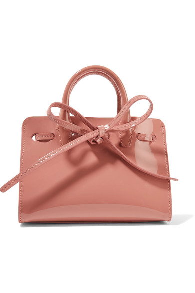 Mansur Gavriel - Sun Mini Mini Patent-leather Tote - Pink