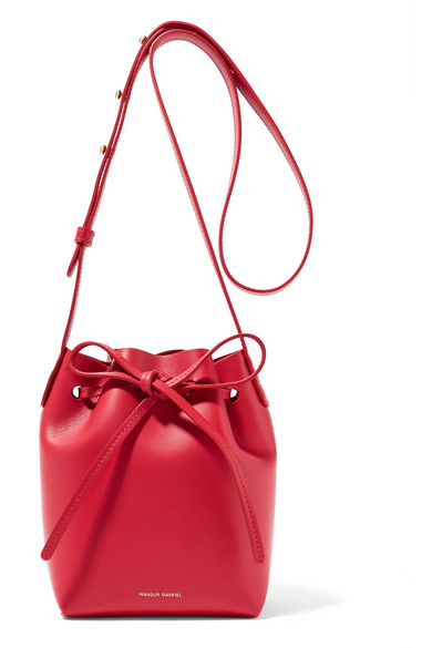 Mansur Gavriel. Mini Mini Leather Bucket Bag