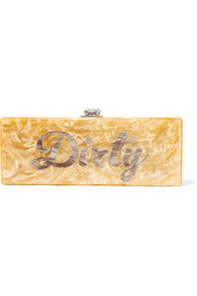 Flavia Dirty acrylic box clutch