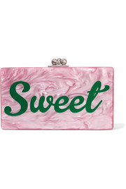Jean acrylic box clutch