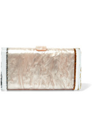 Lara glittered acrylic box clutch