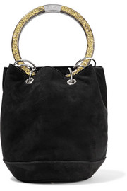 Olivia small suede tote