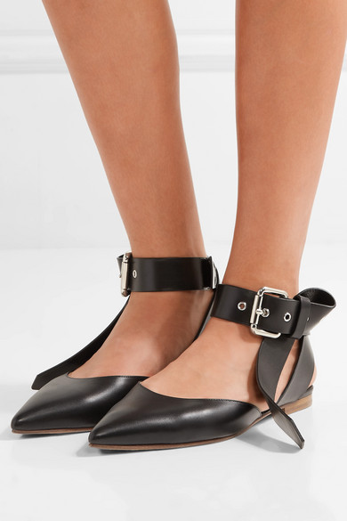 MONSE Leather Flats in . VPcWSK4c