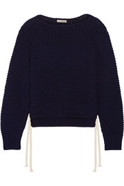Elliot lace-up cotton sweater