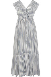 Ariane striped cotton-gauze maxi dress