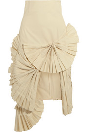 Jacquemus Pleated canvas skirt