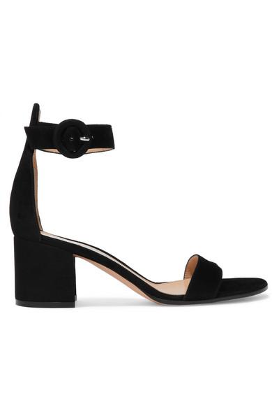 gianvito rossi female gianvito rossi versilla suede sandals black