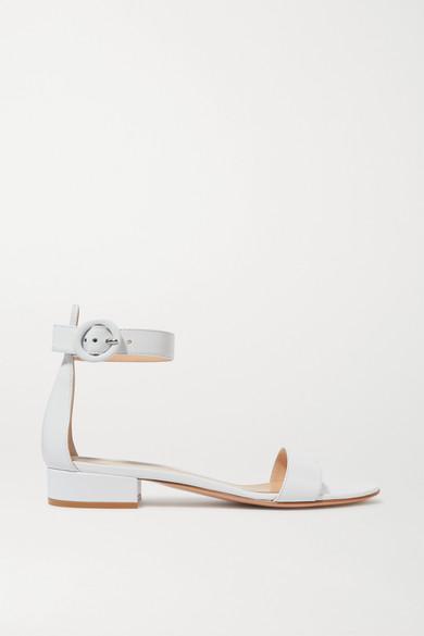 gianvito rossi female gianvito rossi portofino leather sandals white