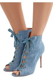 Gianvito Rossi Lace-up denim boots