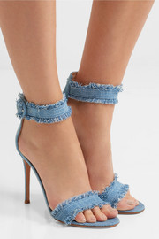 Gianvito Rossi Lola frayed denim sandals