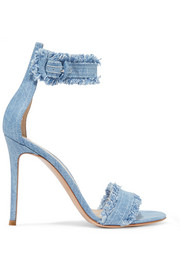 Lola frayed denim sandals
