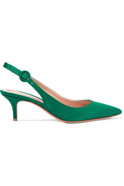 Gianvito Rossi Satin slingback pumps