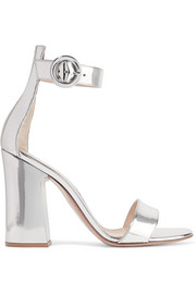 Portofino metallic leather sandals