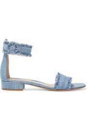 Gianvito Rossi Portofino frayed denim sandals
