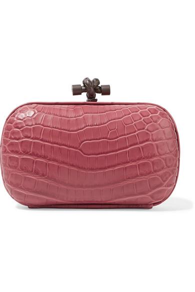 Bottega Veneta - The Knot Crocodile Clutch - Pink