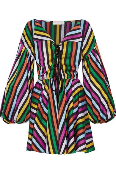 Caroline Constas - Olympia Cotton-jacquard Mini Dress - Magenta