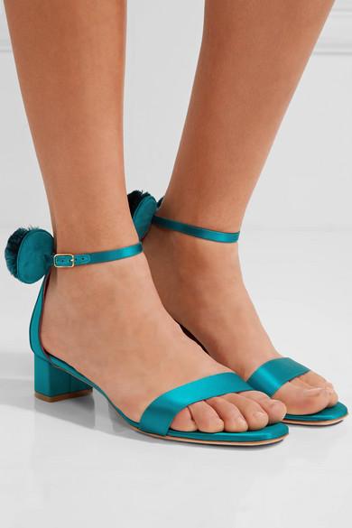 OSCAR TIYE Minnie Satin Sandals in .