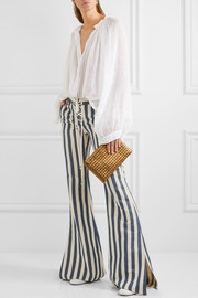 Roberto Cavalli Striped high-rise flared jeans