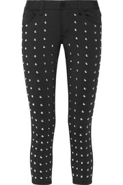 Junya Watanabe Cropped studded stretch skinny pants