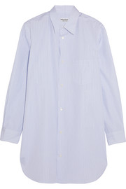 Junya Watanabe Open-back striped cotton-poplin shirt
