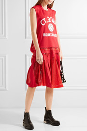 Junya Watanabe Cotton-jersey and sequined tulle dress