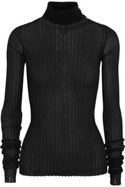 Bottega Veneta Ribbed cotton-blend turtleneck sweater