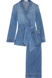 Lafayette cotton-chambray pajama set