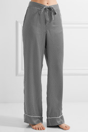 Avery printed washed-silk pajama pants