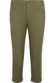 The Carpenter cropped twill slim-leg pants