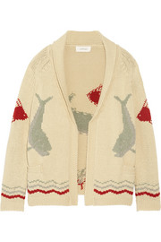 The Great The Fisherman intarsia cotton-blend cardigan