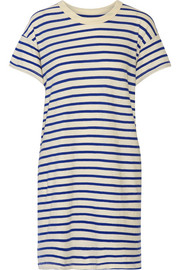The Boxy striped cotton-jersey mini dress