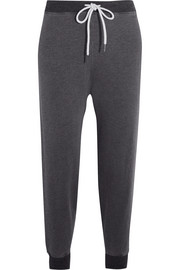 The Cropped cotton-blend jersey track pants