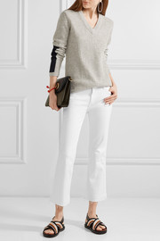 The Nerd cropped frayed low-rise flared jeans