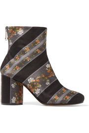 Jacquard ankle boots