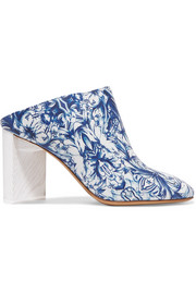 Maison Margiela Floral-print leather mules