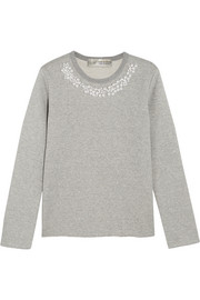 + Jupe By Jackie faux pearl-embellished cotton-terry sweatshirt