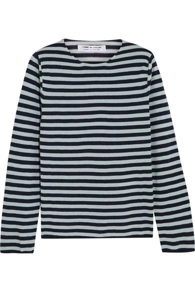 Comme des Garçons Comme des Garçons - Striped Cotton-blend Sweater - Indigo