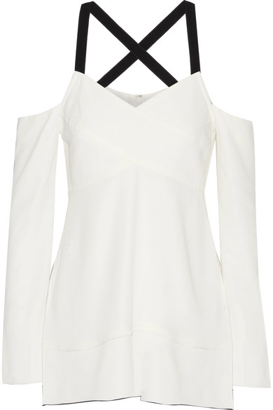 Proenza Schouler - Cold-shoulder Crepe Top - Ivory