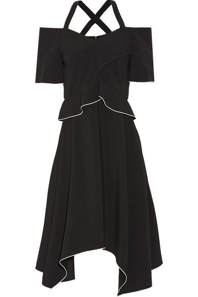 Proenza Schouler - Cold-shoulder Crepe Dress - Black