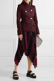 Proenza Schouler Striped cotton and wool-blend jacquard blazer
