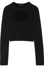 Cutout silk-blend sweater