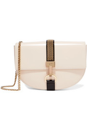 Lien chain-trimmed leather shoulder bag