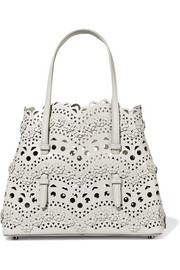 Alaïa Mini appliquéd laser-cut leather tote