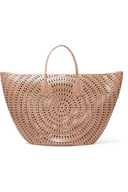 Alaïa Large laser-cut leather tote