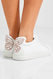 Sophia Webster Bibi Butterfly embroidered leather sneakers
