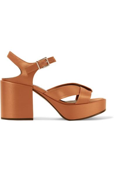 5dc92983bb65 Jil Sander. Satin platform sandals