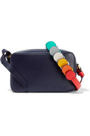 Circle mini leather shoulder bag